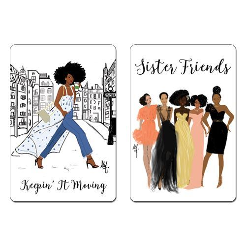 M106 Sister Friends / Keepin It Moving Magnet Set