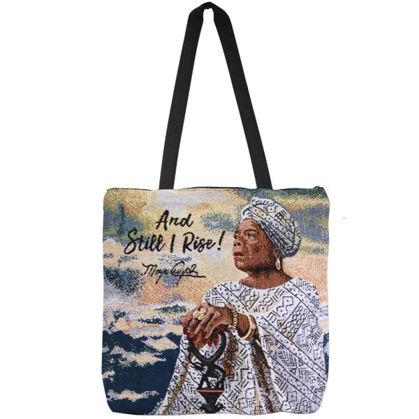 WTB14 And Still I Rise Maya Woven Totebag