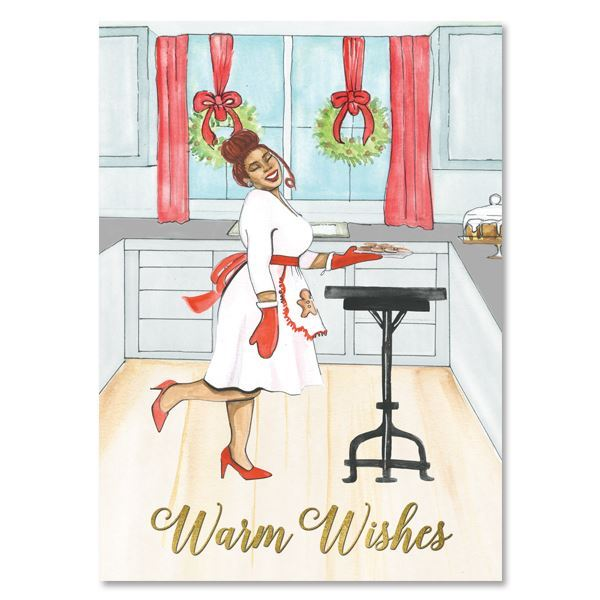 C952 Warm Wishes Cookies Christmas Card