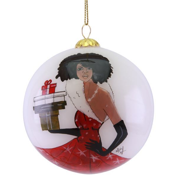 ORNH03 Fabulous Christmas Hand Painted Ornament