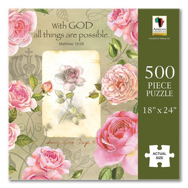 PUZ15 With God Roses Puzzle