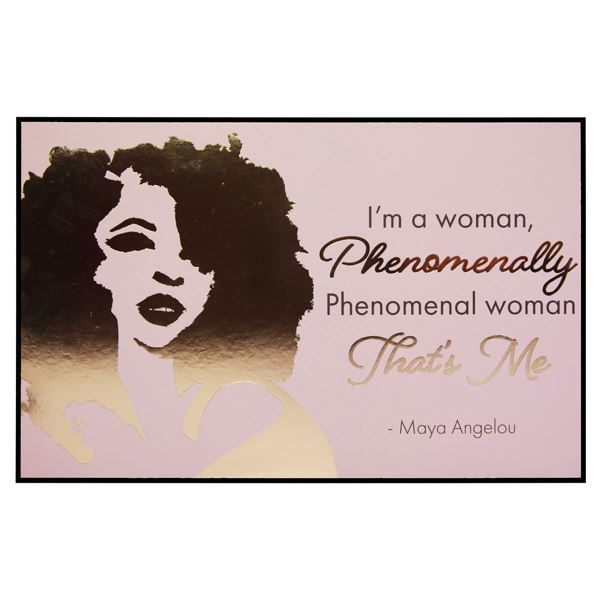 CHWP36 Phenomenal Woman Wall Plaque
