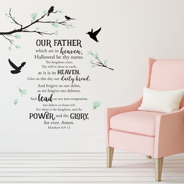 WD01 Lords Prayer Wall Art Decal