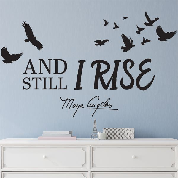 WD02 Still I Rise Wall Art Decal