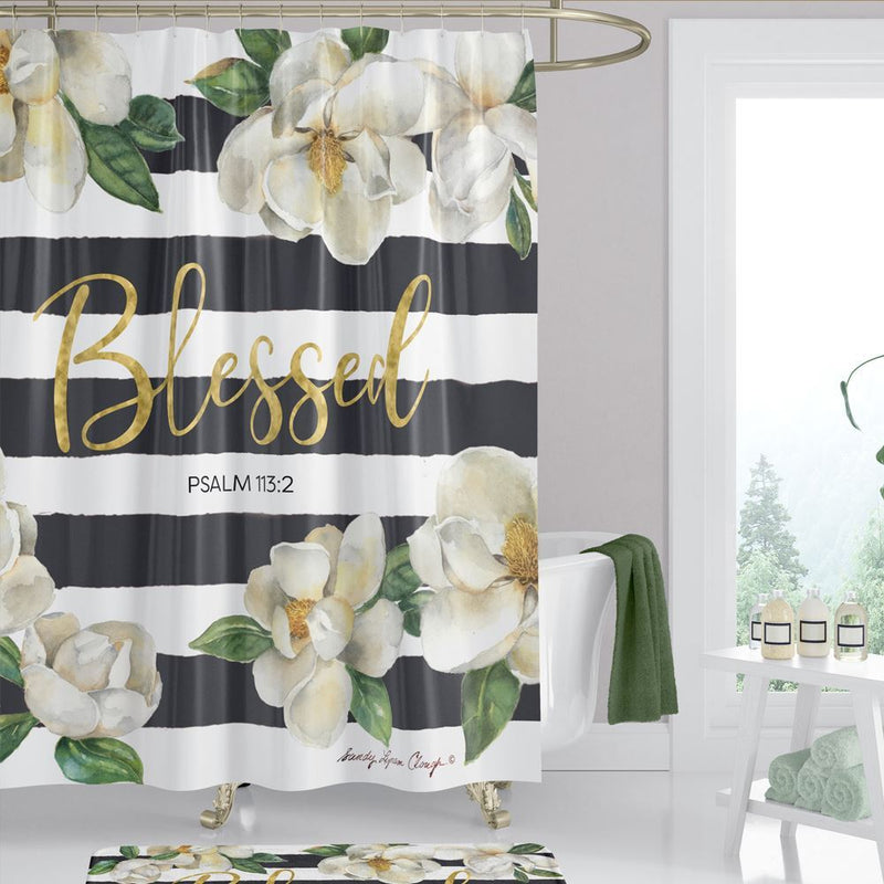SC01 Blessed Magnolia Shower Curtain