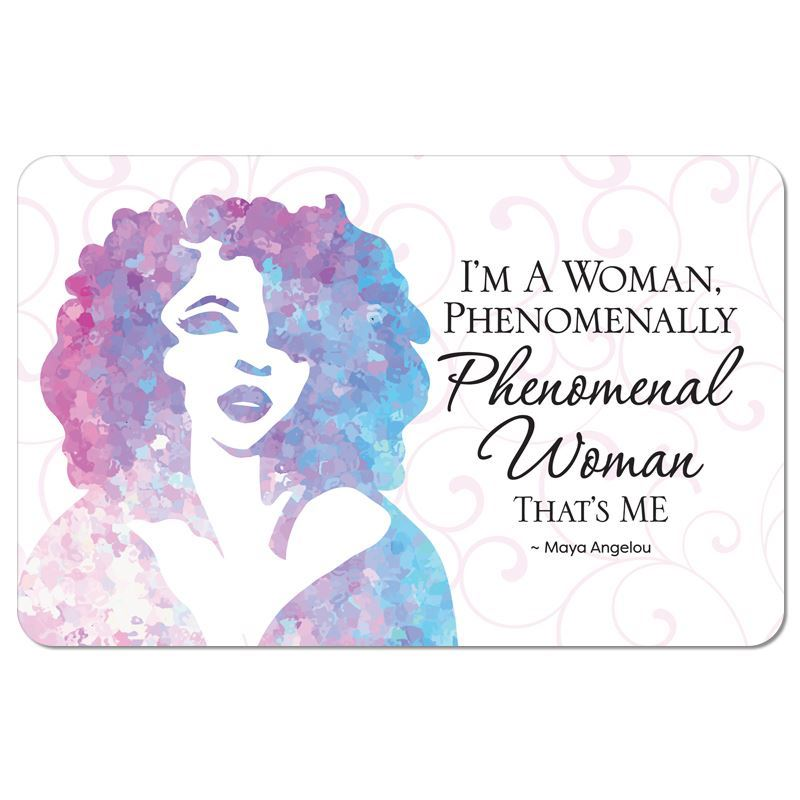 SM06 Maya Angelou Phenomenal Woman Floor Mat