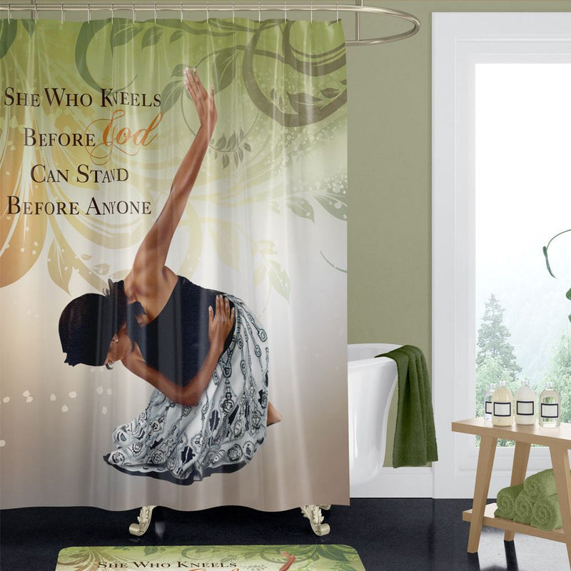 SC09 She Who Kneels Shower Curtain