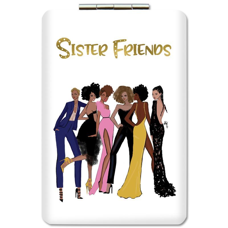 PM14 Sister Friends (Version 2) Compact Mirror