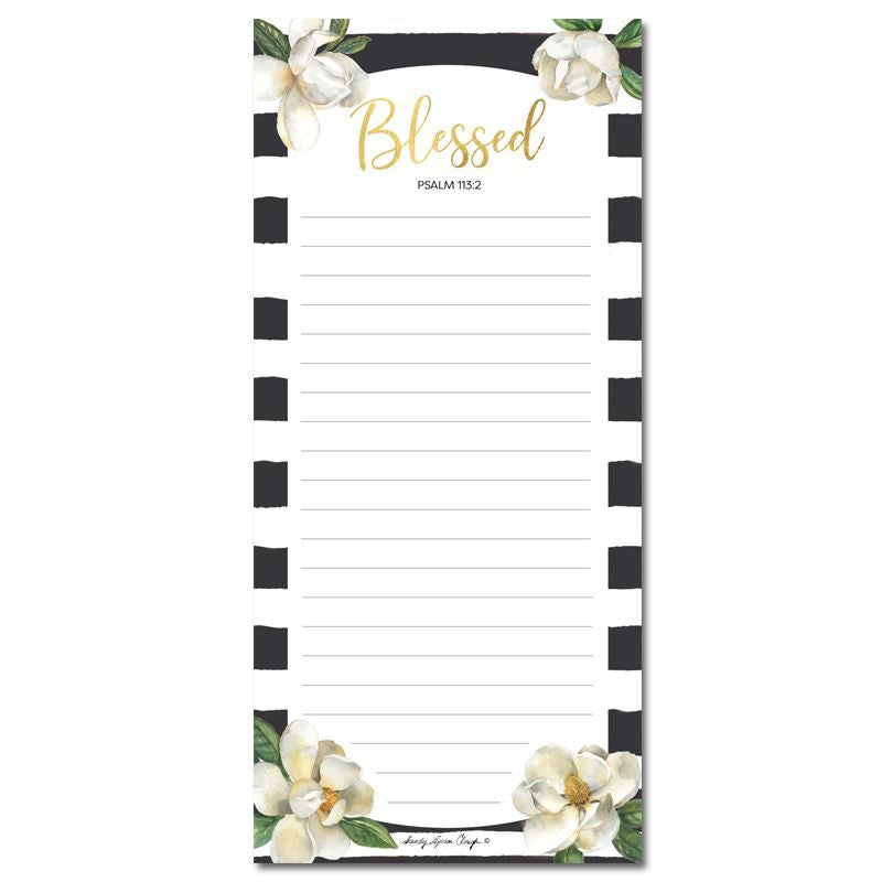 MNP127 Blessed Magnolia Magnetic Notepad