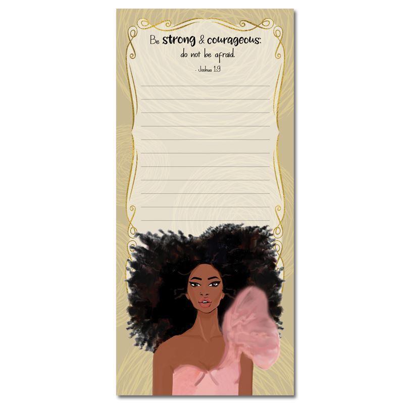 MNP128 Strong and Courageous Magnetic Notepad