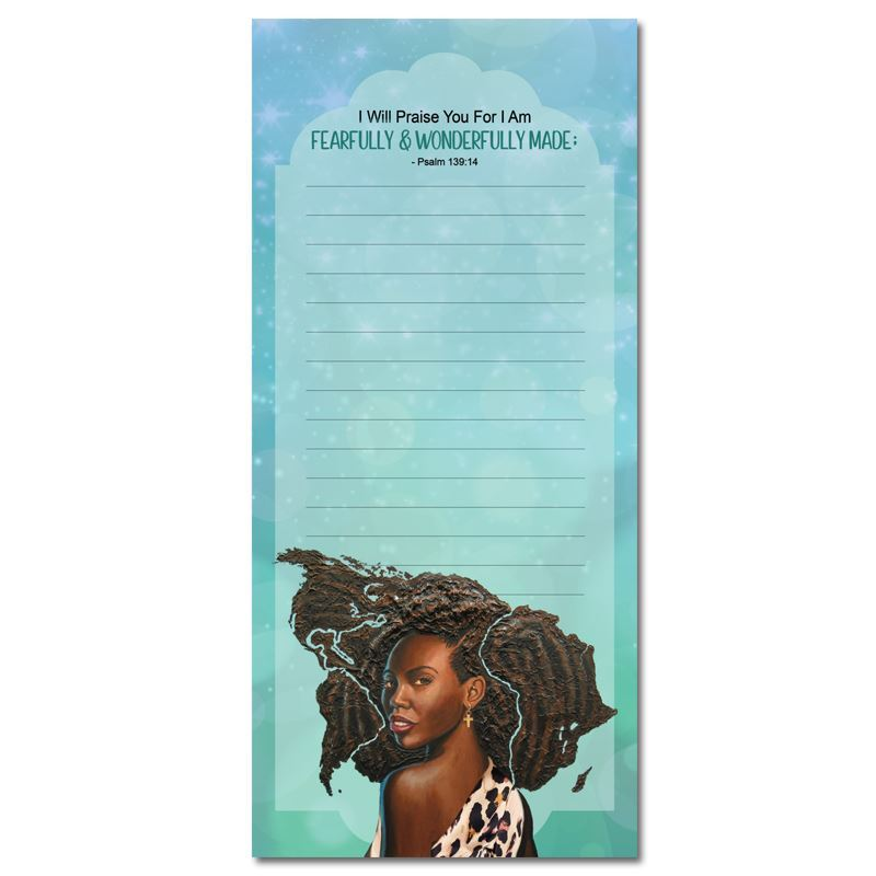 MNP129 Fearfully/Wonderfully Made Magnetic Notepad
