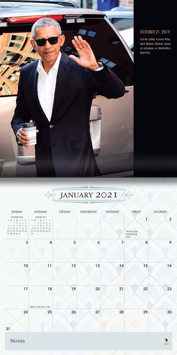 WC194 The Obamas 2021 Wall Calendar