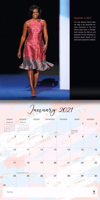 WC195 Michelle Obama 2021 Wall Calendar