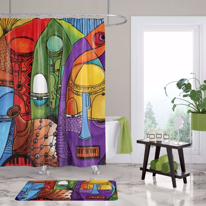 SC14 Jazz Masks Shower Curtain