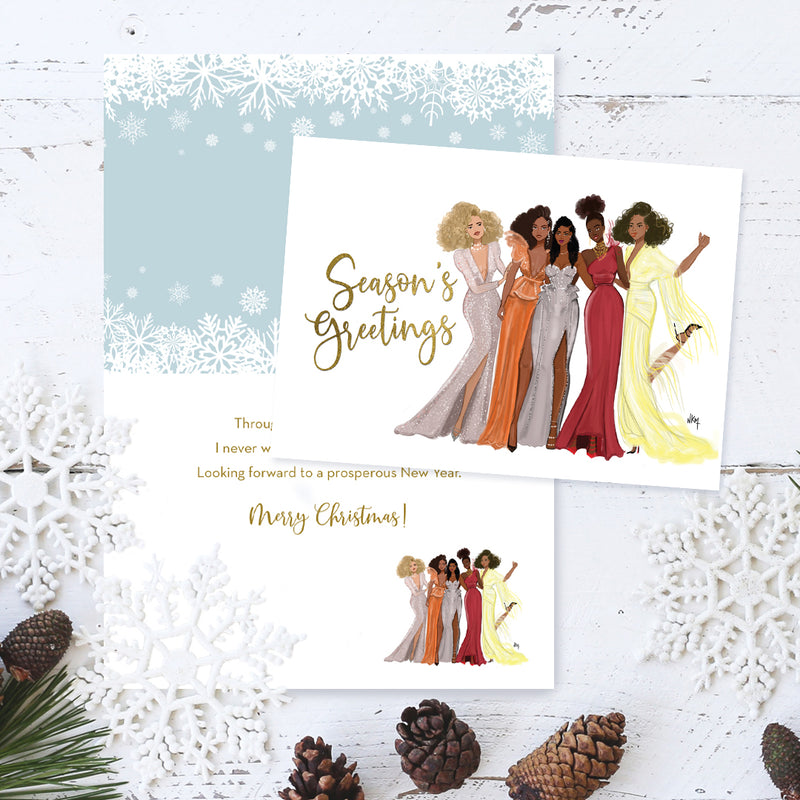 C967 Season's Greetings Girls Christmas Card