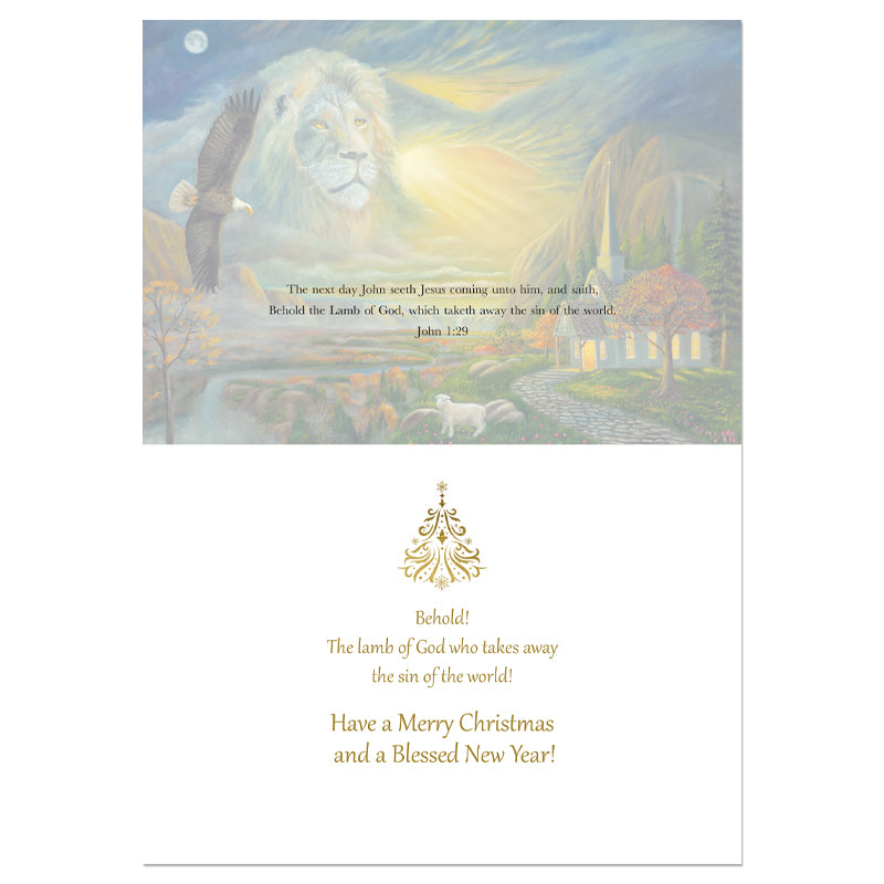 C969 Lion Waymaker Christmas Card