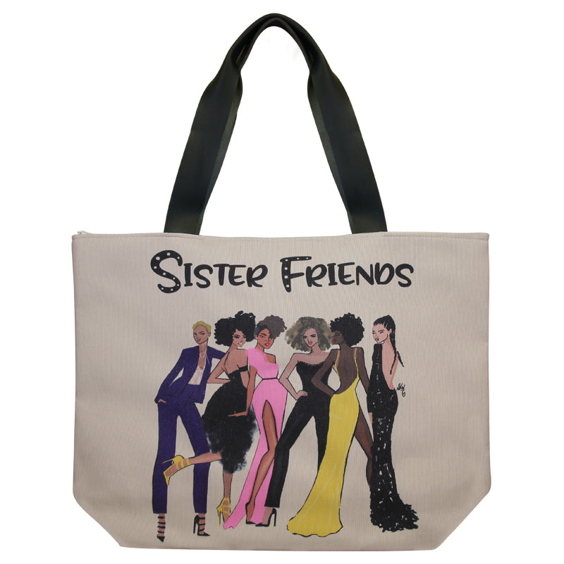 CHB05 Sister Friends 2 Canvas Handbag