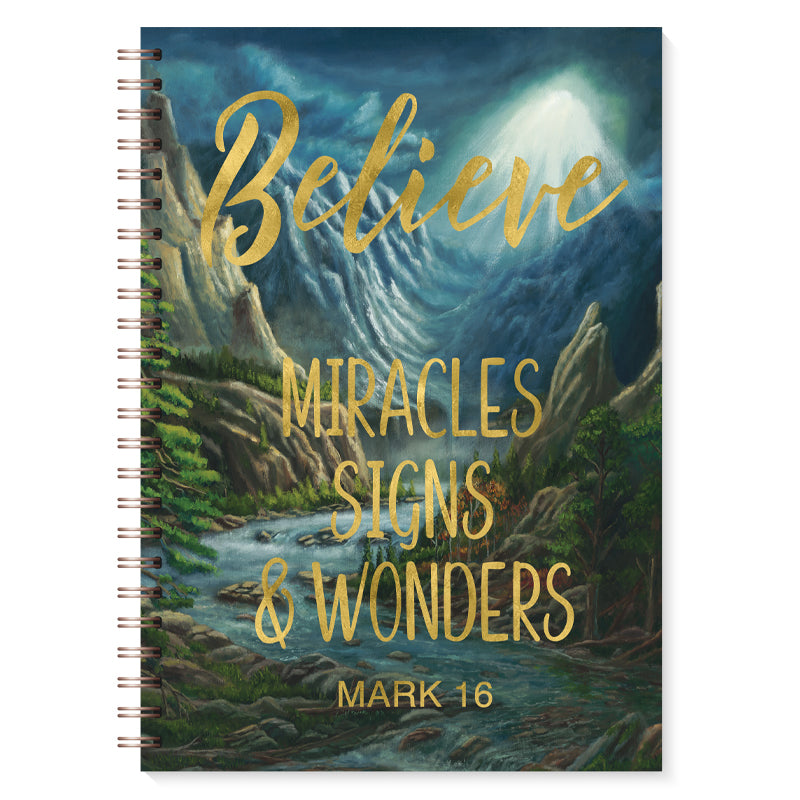 J222 Believe Mark 16 Gold Foil Journal