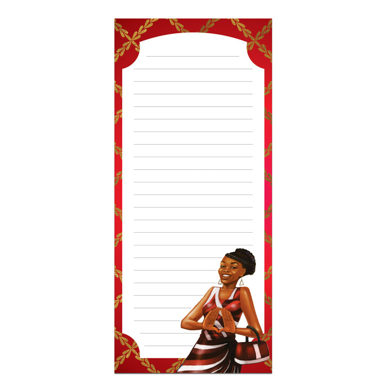 MNP134 Red and White Magnetic Notepad