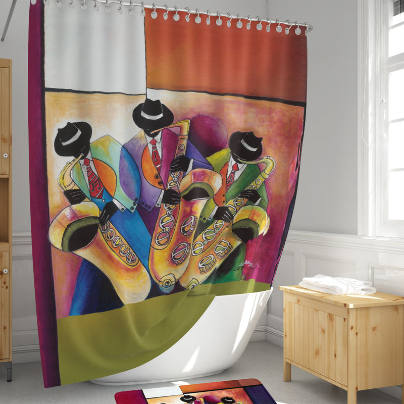 SC02 Jazz Sax Men Shower Curtain