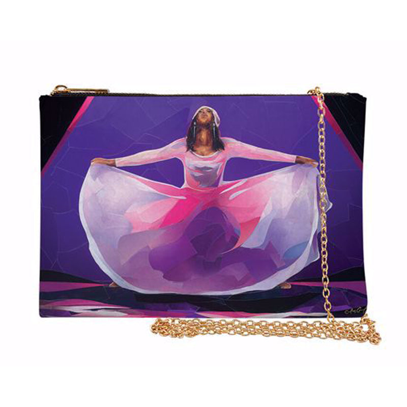 SP08 Pink and Purple Praise Dancer Chain Purse