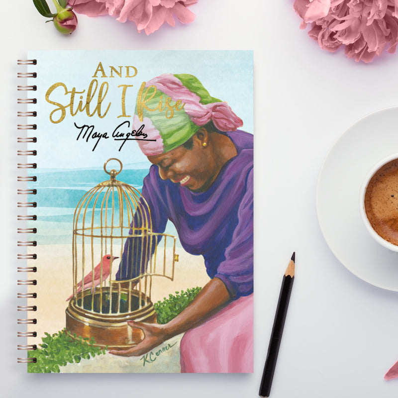 J208 Still I Rise Caged Bird Wired Journal
