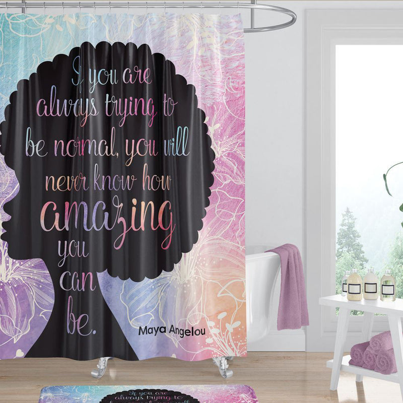 SC05 Amazing Quote (Maya Angelou) Shower Curtain