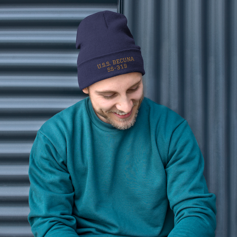 Submarine BECUNA Embroidered Knit Cap