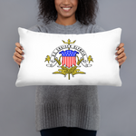 Cruiser OLYMPIA Sail Plan with Letterhead Throw Pillow