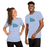 Schooner Sailboat Icon Short-Sleeve Unisex T-Shirt