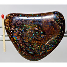 Load image into Gallery viewer, Red Green & Blue Ironstone Matrix Opal