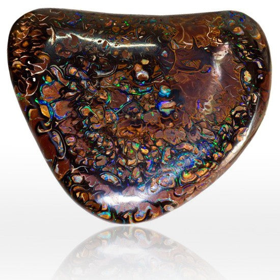 Red Green & Blue Ironstone Matrix Opal