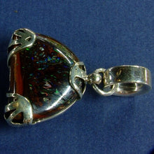 Load image into Gallery viewer, Green & Blue Matrix Opal Pendant