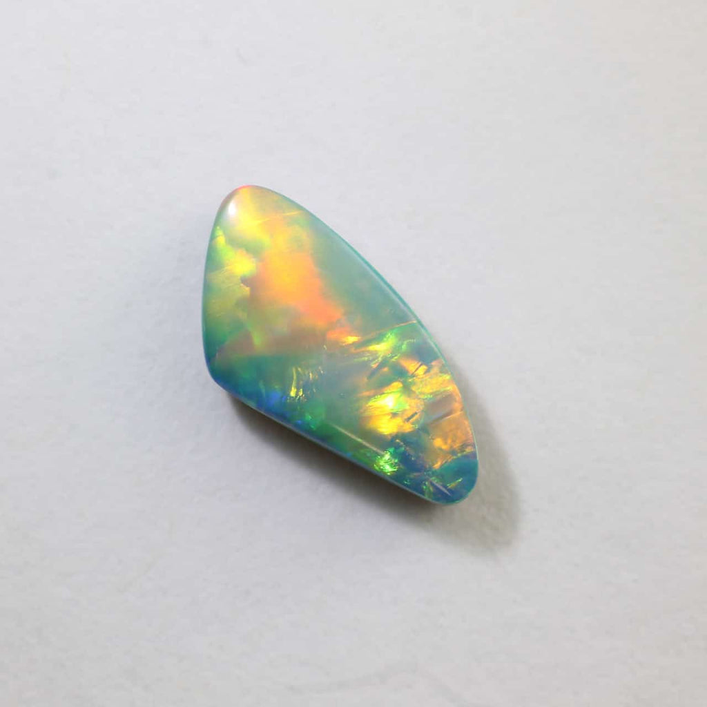 Green, Blue, Red & Orange Boulder Doublet Opal