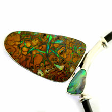 Load image into Gallery viewer, Blue, Green & Red Solid Boulder Opal Pendant