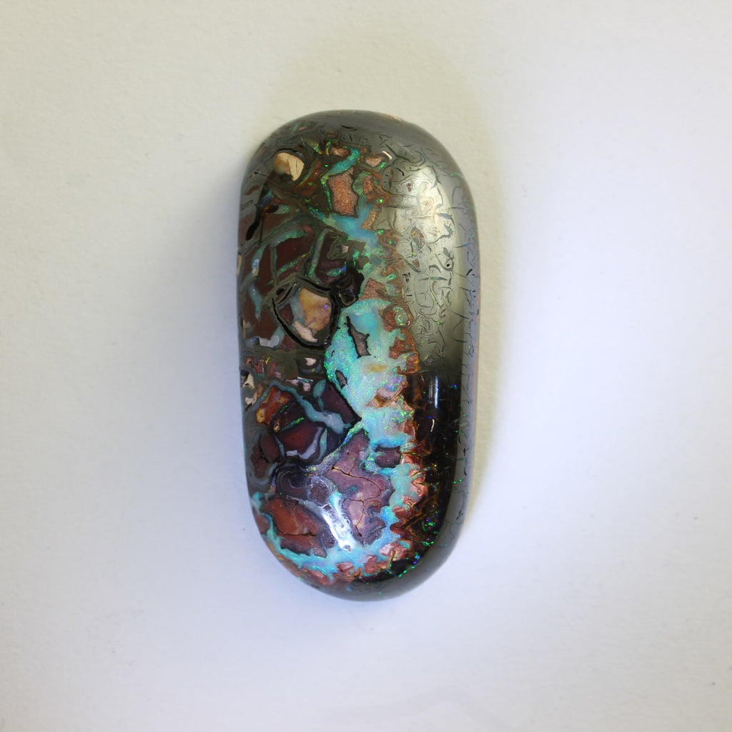 Green Blue Red & Orange Solid Boulder Matrix Opal