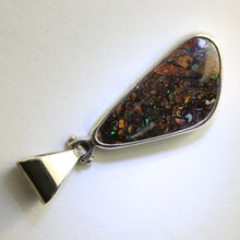 Load image into Gallery viewer, Blue & Green Solid Boulder Matrix Opal Pendant