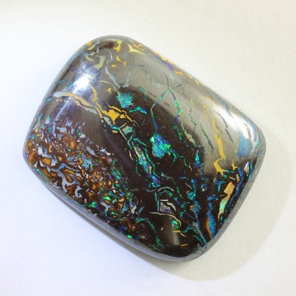 Blue, Green & Orange Solid Boulder Matrix Opal