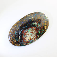 Load image into Gallery viewer, Blue, Green & Purple Solid Boulder Matrix Opal