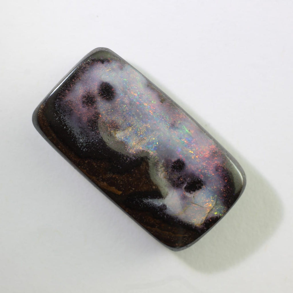Pink, Green & Red Solid Boulder Opal