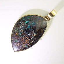 Load image into Gallery viewer, Green & Blue Solid Opal Pendant