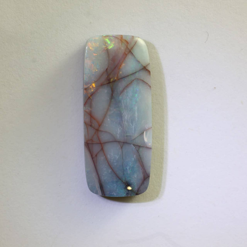 Red, Orange & Green Boulder Solid Opal