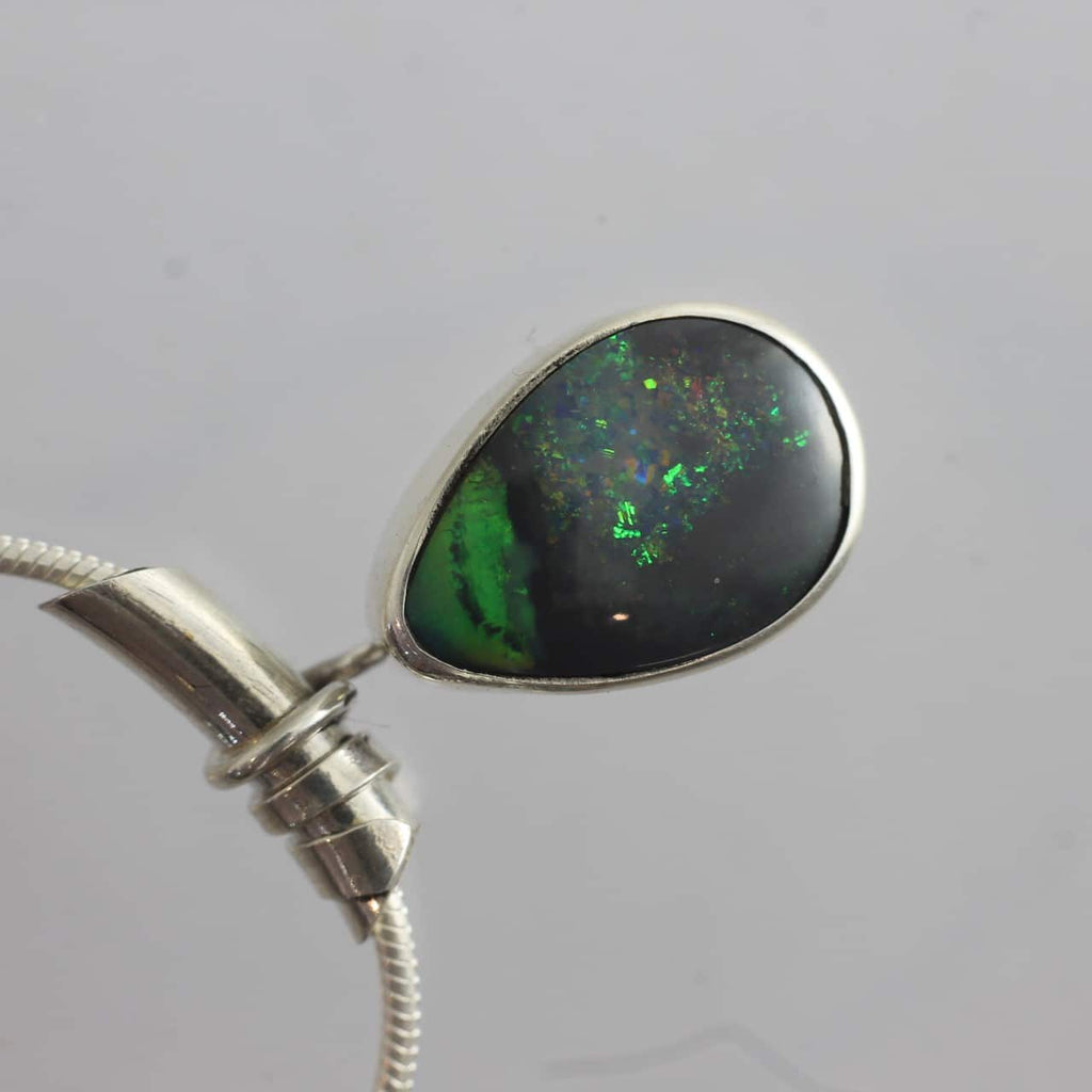 Doublet Opal Pendant with Curved Hollow Tube Bail