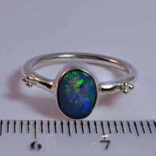 Load image into Gallery viewer, Flashes Green Yellow Red & Blue Solid Opal
