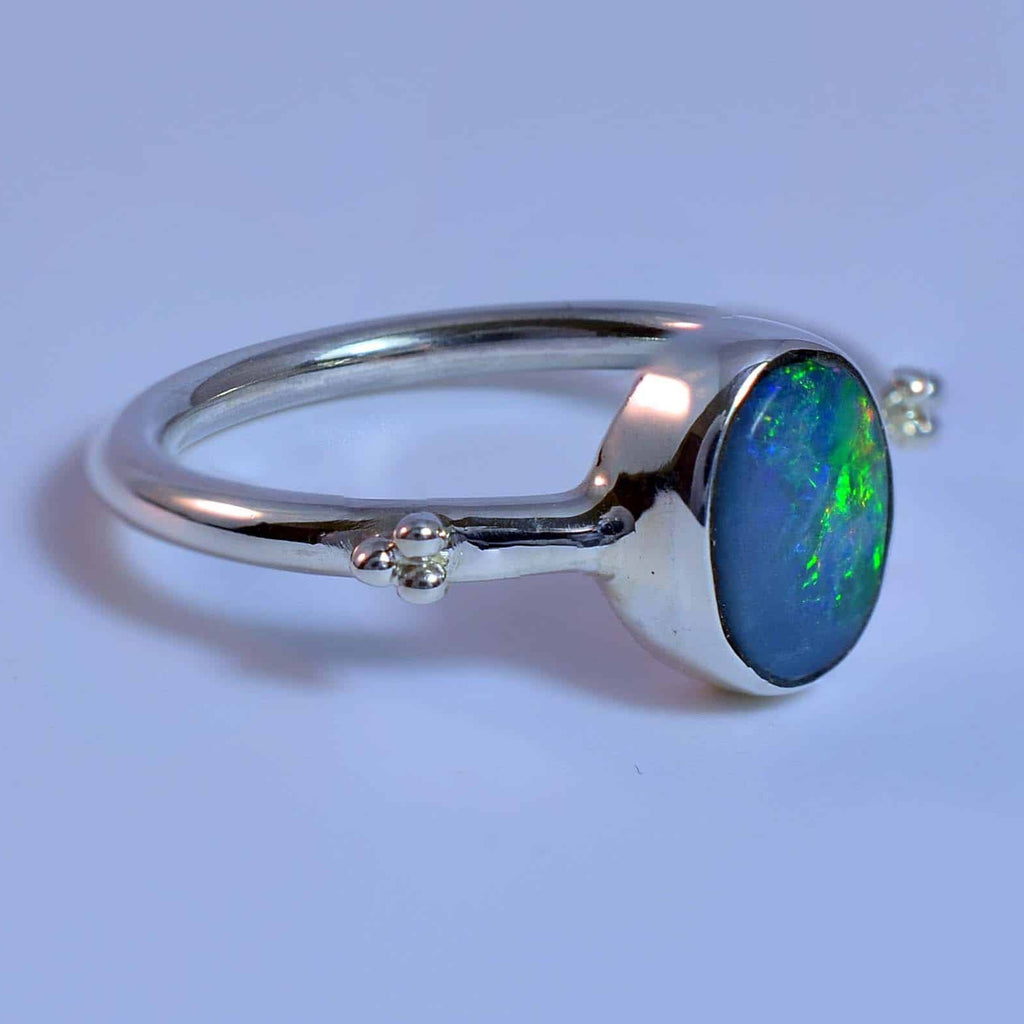 Flashes Green Yellow Red & Blue Solid Opal