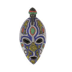 Beaded African Mask