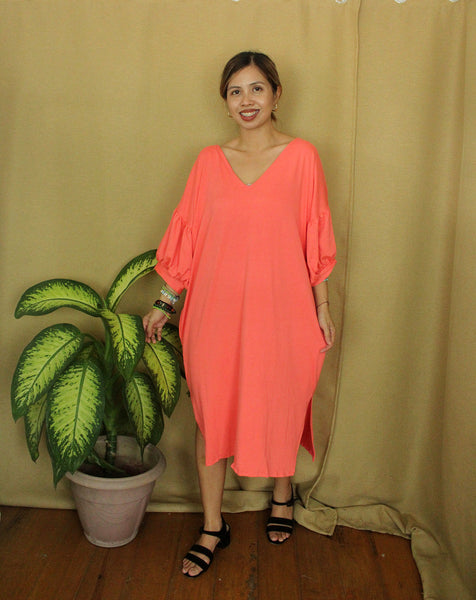 KNOT DRESS / COTTON SPANDEX