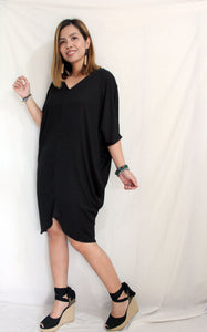 Cocoon Dress ( cotton rib fabric)