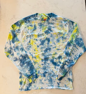 Adult Blue/Yellow Long Sleeve- Size M