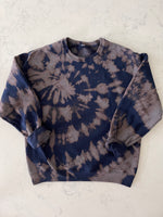 Load image into Gallery viewer, Navy Bleached Hooded Sweatshirt